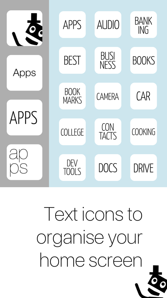 Mister Icon Screenshot 1 - Text icon labels to organise your home screen