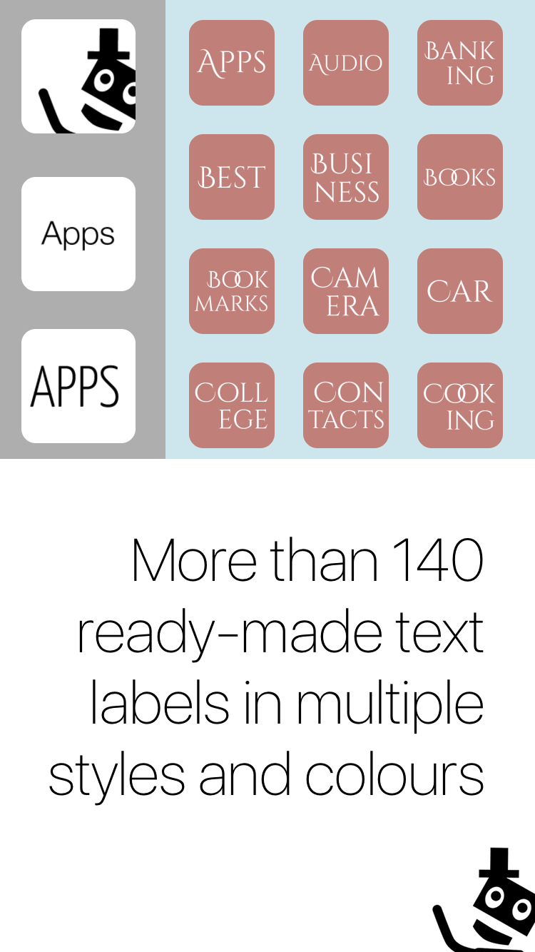Mister Icon Screenshot 4 - More than 130 ready-made text icons in multiple styles and colours